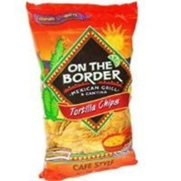 On The Border Cafe Style Tortilla Chips - 24 oz. - CASE PACK OF 4