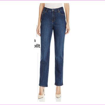 Gloria Vanderbilt Women's classic fit Amanda Heritage Fit Leg Jeans 14 Short/MAYA WASH [name: actual_color value: actual_color-mayawash]