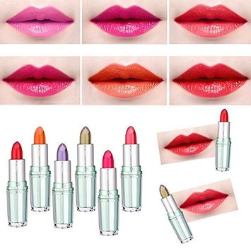 Hot Sales! DEESEE(TM) Waterproof Long Lasting Temperature Changed Moisturize Lipstick Lip Gloss