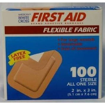 Flexible Fabric Wound Closure Extra Wide Strips Bandages 1100-Ct