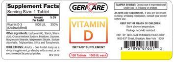 McKesson Brand Vitamin D-3 Supplement