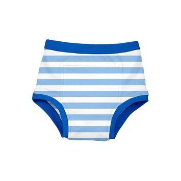 Reusable Absorbent Training Underwear-Light Blue Stripe-4T