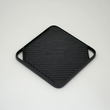 Char-Broil Cast Iron 10.5 Square Grilling Topper (Reversible), Black