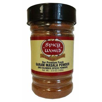 Spicy World Garam Masala 3.5 Ounce Jar - Premium Indian Blend with 15+ Ingredients