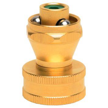 Hose Nozzle: Melnor Metal Mini-Twist Nozzle, Gold Metal