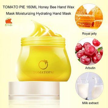 TOMATO PIE 160ML Honey Bee Hand Wax Mask Moisturizing Hydrating Exfoliating Nourish Whitening Skin Care Hand Mask