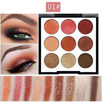 KaiCran 9 Color Pearl Glitter Eye Shadow Powder Palette Matt Eyeshadow Professional Cosmetic Makeup