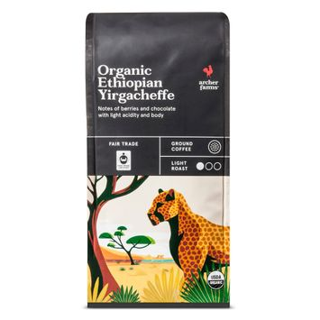 Organic Ethiopian Yirgacheffe Ground Coffee 10oz- Archer Farms