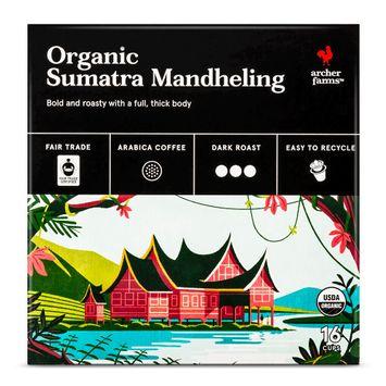Organic Sumatra Mandheling Coffee Single Cups 16ct - Archer Farms