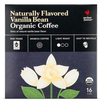 Naturally Flavored Vanilla Bean Organic Coffee Single Cups 16ct - Archer Farms