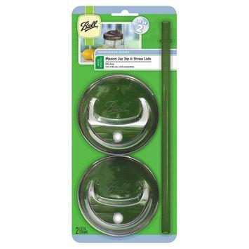 Ball WM Sip and Straw Reusable Food Storage Lid, Grey