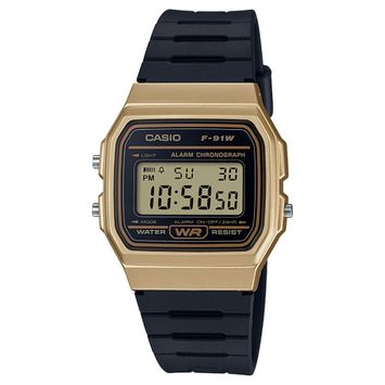 National Brand Men's Casio Digital Watch - Black and Gold