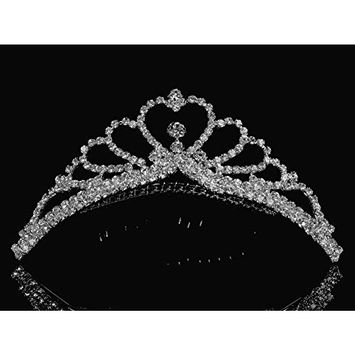SparklyCrystal Princess Bridal Wedding Tiara Comb 48105 by SparklyCrystal