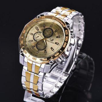 BIG SALES Men Wrist Watch Fashion Stainless Steel Luxury Sport Analog Quartz Clock