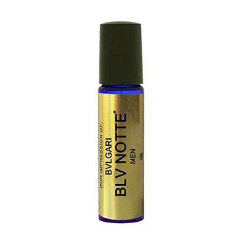 Blue Notte Perfume Oil IMPRESSION with SIMILAR Accords to (_BULG_BLV-NOTTE)(MEN)Cobalt Rollon, 100% Pure No Alcohol Oil - Perfume Oil VERSION/TYPE; Not Original Brand (10ML ROLLER BOTTLE)