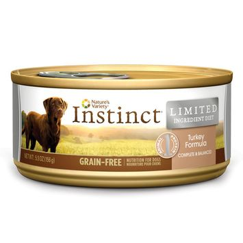 Nature's Variety Instinct Grain-Free Limited Ingredient Diet Turkey Canned Dog Food, 5.5 oz, Case of 12