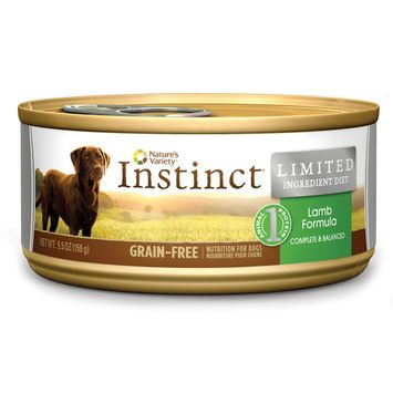 Nature's Variety Instinct Grain-Free Limited Ingredient Diet Lamb Canned Dog Food, 5.5 oz, Case of 12