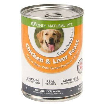Only Natural Pet Chicken & Liver PowerStew 13oz Can