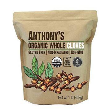 Anthony's Organic Whole Cloves (1lb), Gluten Free, Non-GMO