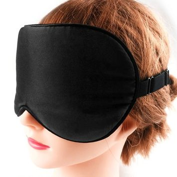 Thanger Natural Silk Sleep Mask Blindfold for Men and Women, Comfortable and Super Soft Mulberry Eye Mask with Adjustable Strap, Ultimate Sleeping Aid, Blocks Light, 1-Pack