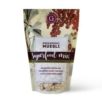 Greenpoint Muesli Raw Artisan Granola - Superfood Mix, 12oz Bag