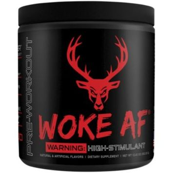 WOKE AF BLOOD RAZ 352.53 GM (12.43 Ounces Powder) by Bucked Up at the Vitamin Shoppe