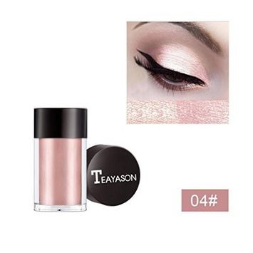 Eyeshadow Powder DEESEE(TM)TEAYASON 8 Colors Small Bottle Easy to Wear Glitter Shimmering Metallic Mashed Monochrome Eyeshadow Palette Makeup Available