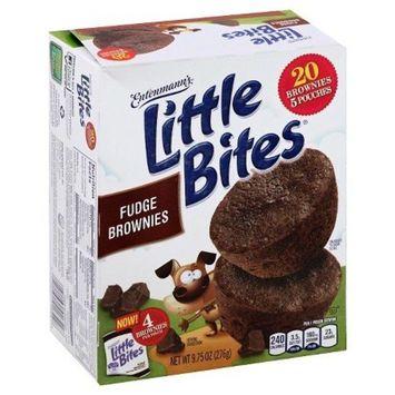Entenmann's Little Bites 5 ct Fudge Brownie Muffins 8.25 oz (Pack of 3)