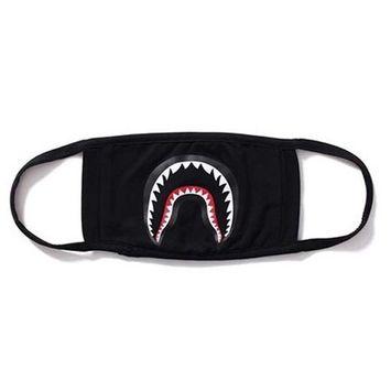 Camping First Aid Kits Bape Black Black Shark Face Mask 1 Pack