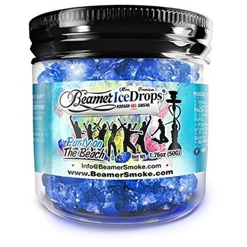 Party on the Beach 50G Ultra Premium Beamer Ice Drops ¨ Hookah Shisha Smoking Gel. Each bowl lasts 2-4 Hours! USA Made, Huge Clouds, Amazing Taste! Better Taste & Clouds than Tobacco! 2-3 bowls per Jar!