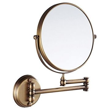 EYX Formula Magnification Mirror for Face Wash, Wall Mounted Mirror Nickel Finish