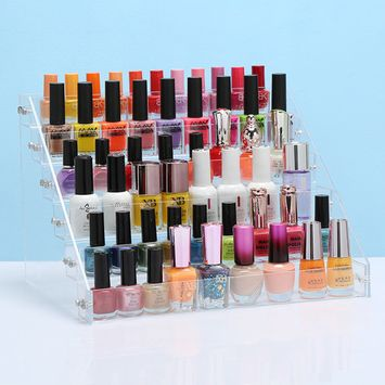 Acrylic Nail Polish Rack organizer, Acrylic Clear Makeup Display Stand Rack Organizer Holder,3tier/4tier/5tier/6tier
