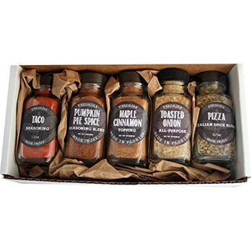 FreshJax Seasoned Sea Salts Gift Set, (Set of 5)