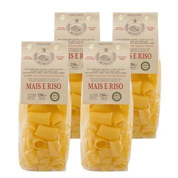 Morelli Italian Gluten Free Paccheri Pasta made from Corn & Rice - Pasta Di Mais E Riso - 8.8 oz (pack of 4)