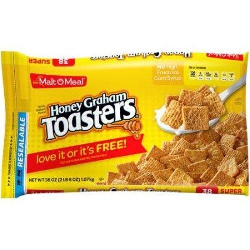 Malt-O-Meal Breakfast Cereal, Honey Graham Toasters, 38 Oz