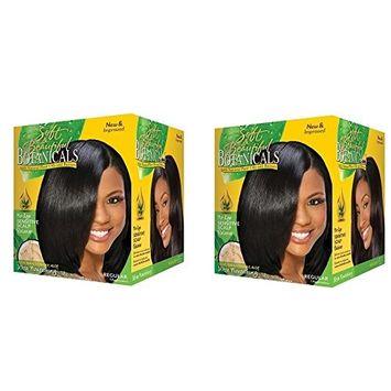 [ Pack of 2] Soft & beautiful BOTANICALS No-Lye, Sensitive Scalp Relaxer REGULAR 1app: Beauty
