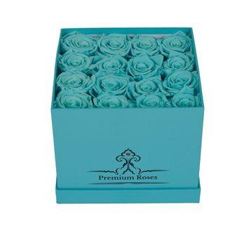 Tiffany Blue Premium Roses with Luxury Tiffany Blue Box [Tiffany Blue, 16 Piece]