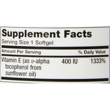 Life Extension Natural Vitamin E Soft Gels, 90 Count [Frustration-Free Packaging]