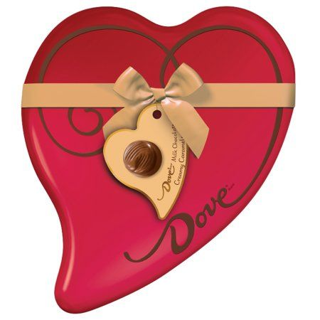 Dove Premium Caramel Milk Chocolates Valentine's Heart Tin, 8.13 oz