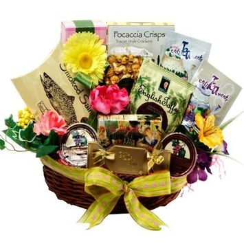 Warm Sentiments Gourmet Food Gift Basket with Smoked Salmon