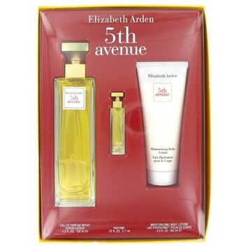 Elîzabêth Ardên 5th Avênue Perfúme For Women Gift Set - 4.2 oz Eau De Parfum Spray + .12 oz Mini + 3.3 oz Body Lotion + a FREE Head Over Heels 3.4 oz Shower Gel