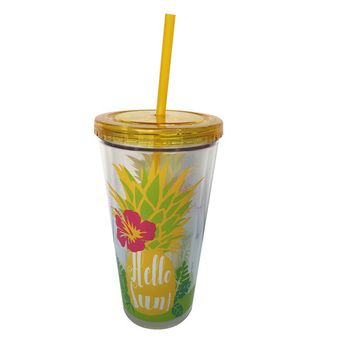 Essential Home 22 Oz. Hydration Tumbler With Straw – Pineapple