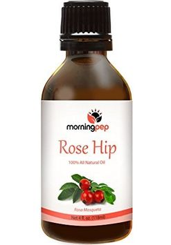 Morning Pep ROSEHIP OIL 4 OZ Large Bottle 100 % Pure And Natural Therapeutic Grade, Undiluted unfiltered and with no fillers, no alcohol or other additives, PREMIUM QUALITY ROSEHIP oil (118 ML)