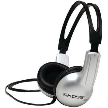 Koss UR10 On-Ear Headphones - Stereo - Mini-phone - Wired - 32 Ohm - 60 Hz 20 kHz - Over-the-head - Binaural - Circumaural - 4 ft Cable