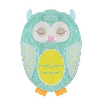 NPW Hot Chicks 750ml Hot Water Bottle Blue Green Owl W6636