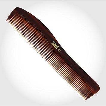 Unisex Brown Dressing Roots Comb 6.50 Inch for Short Straight Hair seamless round tip