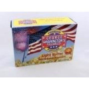 George Washington's Light Butter Microwave Popcorn 3 pack