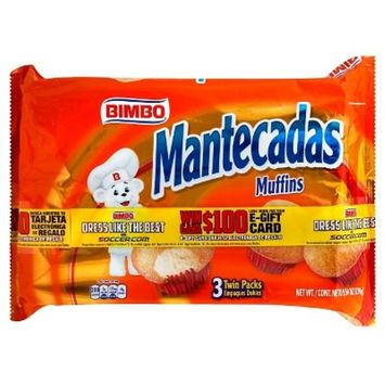 Bimbo Mantecadas Muffins, 3 ct, 9.53 oz