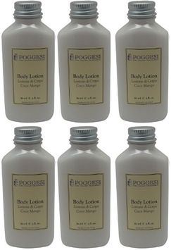 Poggesi Coco Mango Lotion Lot of 2oz Bottles. Total of 12oz (Pack of 6)
