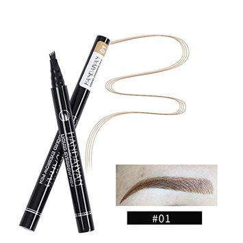 lotus.flower Long Lasting Eyebrow Tattoo Pen,Waterproof Waterproof Fork Tip Sketch Makeup Pen,Sweat-proof Microblading Ink Sketch 5Colors Options